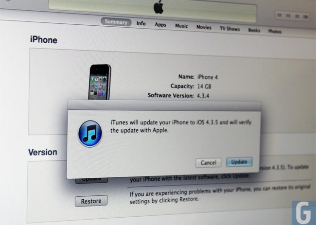 Apple Releases iOS 4.3.5 Update