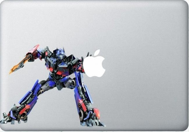 optimus prime macbook decal