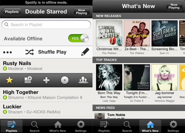 Spotify iPhone App Hits US iTunes Store