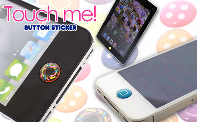 Touch Me! Button Stickers