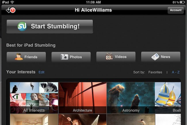 stumbleupon ipad app