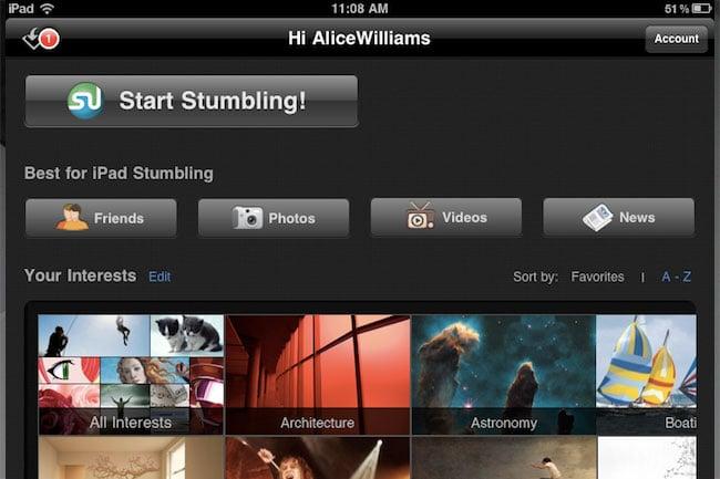 stumbleupon ipad app