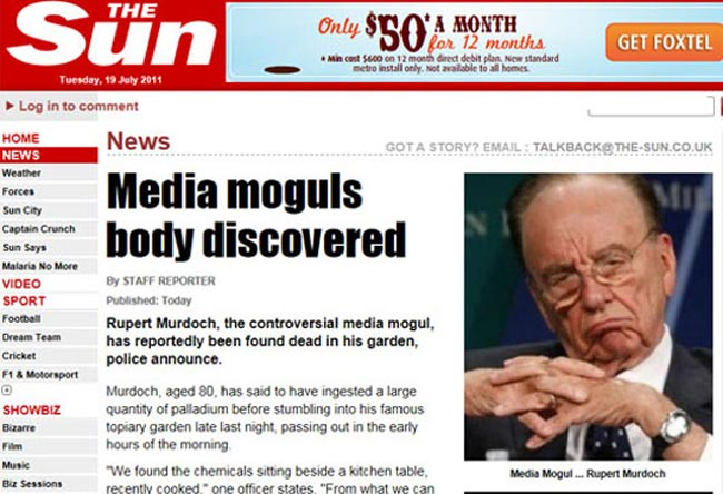 LulzSec Return To Hack Murdoch's Sun Newspaper, News International