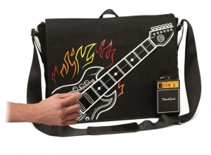 ThinkGeek Electronic Rock Guitar Bag Plays Music and Holds Stuff