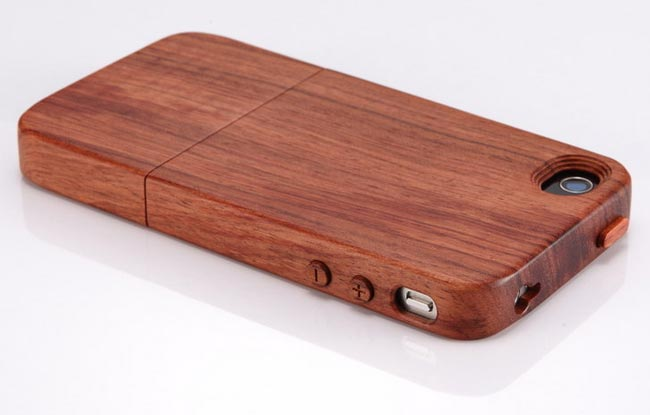 wooden iphone 4 cases and stands. Black Bedroom Furniture Sets. Home Design Ideas