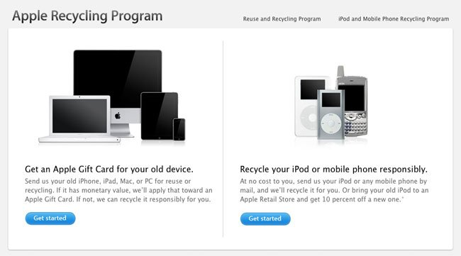 Apple Recycling program