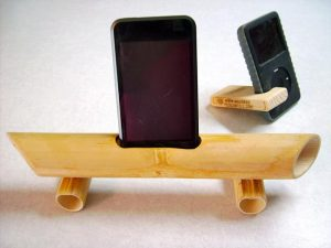 Bamboo iPhone Speaker Stand