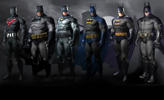 The skins are available to gamers who pre-order the new Batman