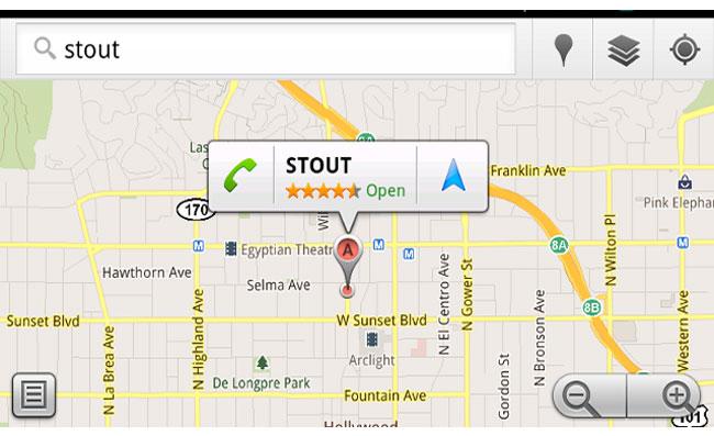Bubble Buttons Google Maps