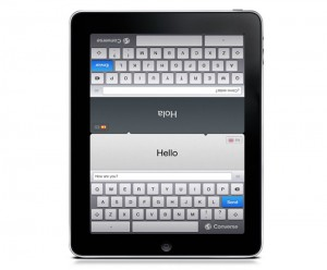 Converse Dual Keyboard Real-Time Translator iPad App