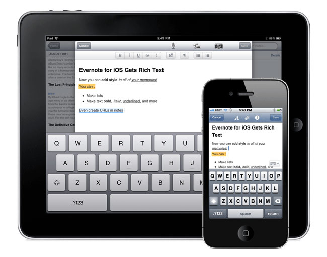 Evernote iPad Update