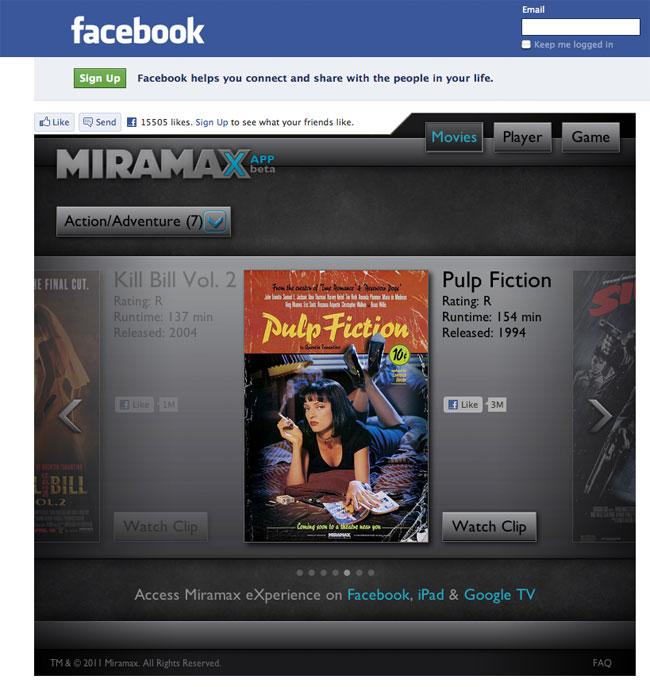Facebook Miramax