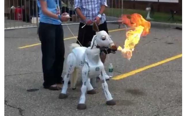 Firebreathing Pony