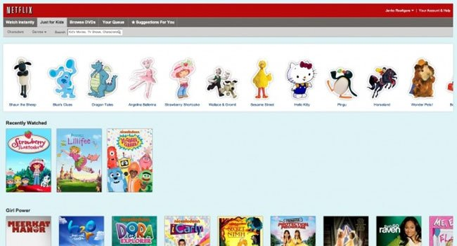 Netflix Child Friendly User Interface