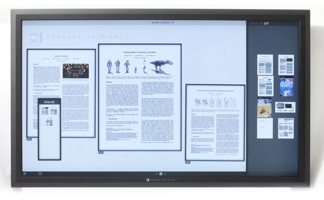 Perceptive Pixel Multitouch Display