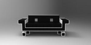 Retro Alien Couch