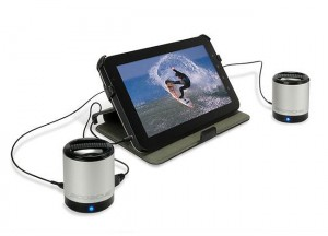 Scosche boomCAN Aluminium Portable Speakers (video)