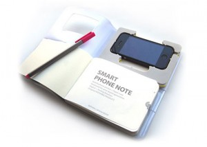 Smart Phone Note, Holds Your iPhone While You Take Notes