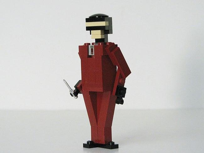 how to make a lego figure jump