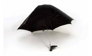 Fancy Water Pistol Umbrella Can Get You In Trouble