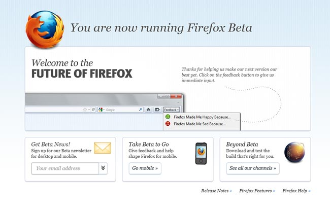 Mozilla Releases Firefox 6 Beta Early