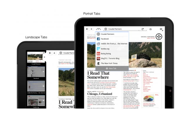 Mozilla Firefox For Tablets Gets Previewed