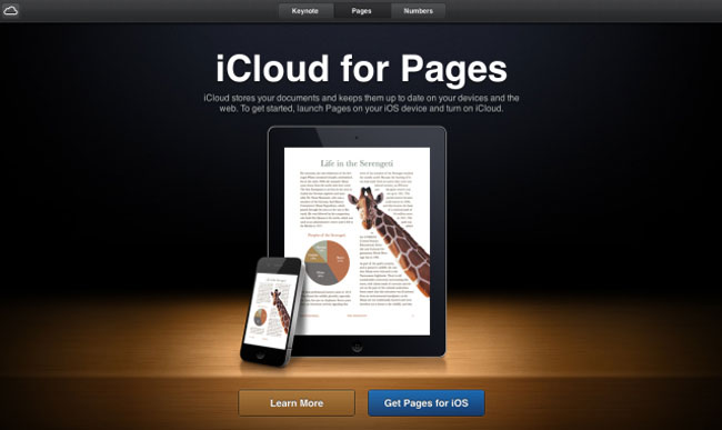iCloud for Pages