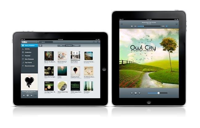 rdio ipad app