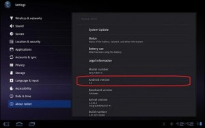 Sony S1 Android Honeycomb 3.2