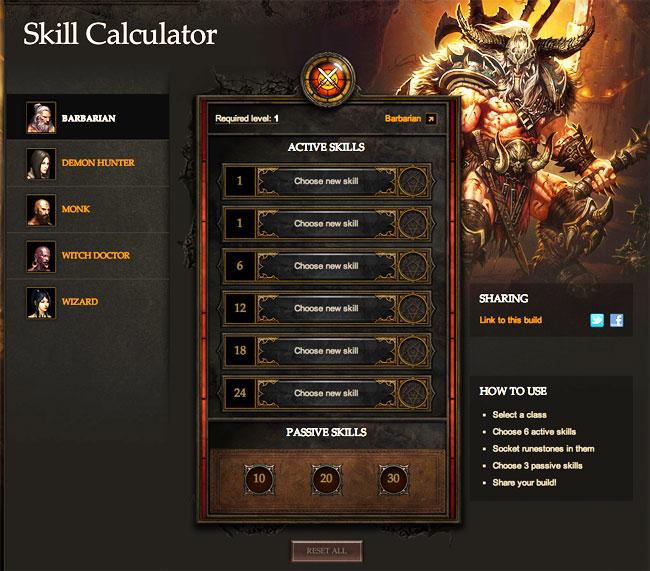 Diablo 3 Skills Calc