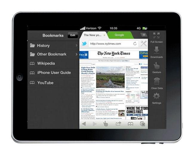 Dolphin iPad Browser