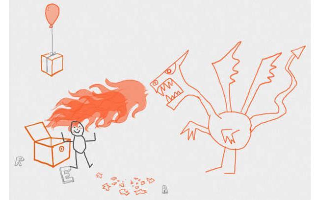 Draw a stick figure