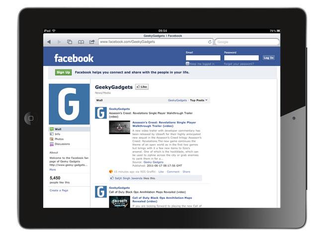 Facebook's iPad App