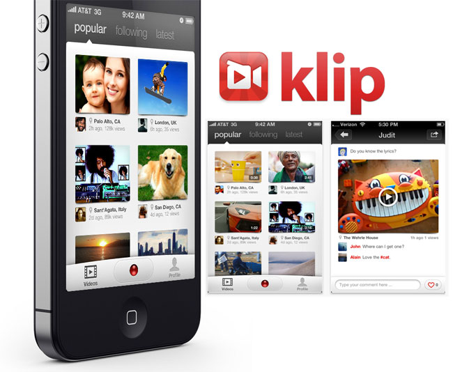 Klip iOS video sharing app