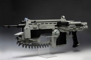 Lego Gears of War Lancer Replica Shoots Rubber Bands (video)