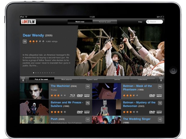 LoveFilm iPad App
