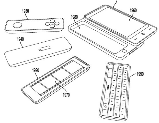 Microsoft Patent Reveals Smartphone With Detachable Accessories