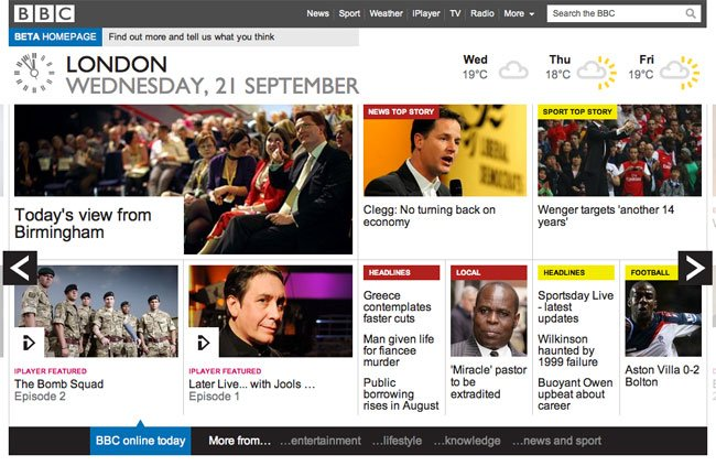 New BBC Website Design