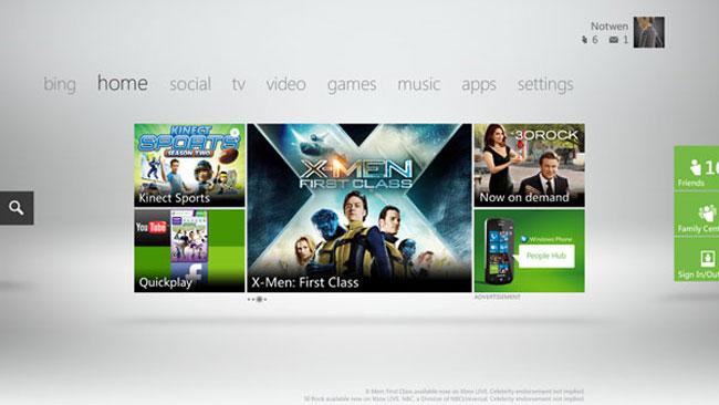 New Xbox Live Dashboard 1