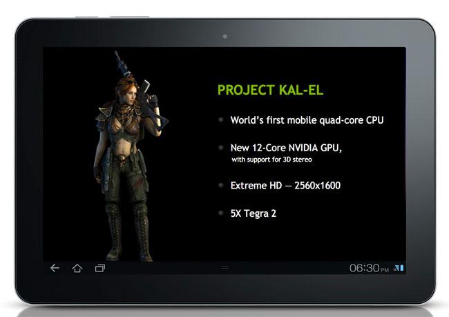 NVIDIA Kal-El Tablet