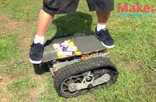 Motorized Tread Skateboard