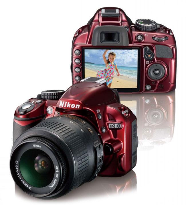 Цифровой зеркальный фотоаппарат Nikon D3100 Kit 18-55 VR Red.