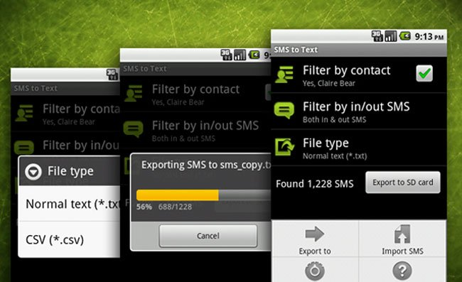 SMS To Text Android App Backs Up Your SMS Messages