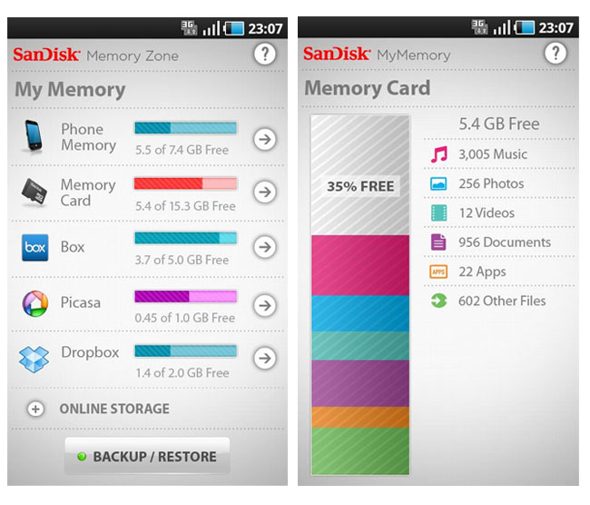 SanDisk Memory App Android