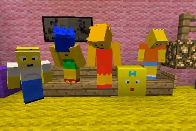 скачать карту для майнкрафт 1 8 прятки в доме симпсонов #1