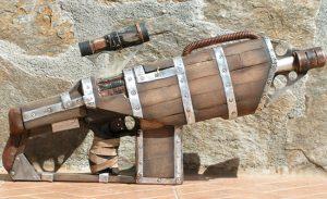 Steampunk Nerf Gun Created From Antique Wooden Chair