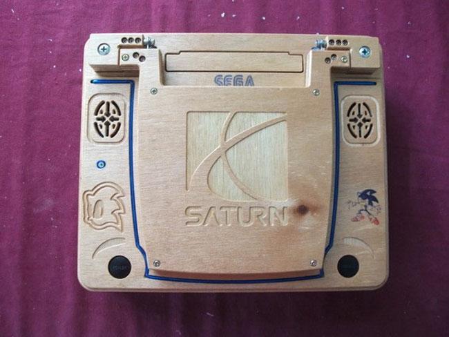 Wooden Sega Saturn