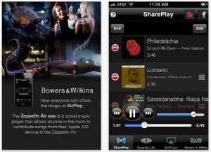 B&W Zeppelin Air iOS App Enables Multiple iOS Devices To Share Music At Parties