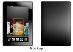 Amazon Kindle Tablet Mockup