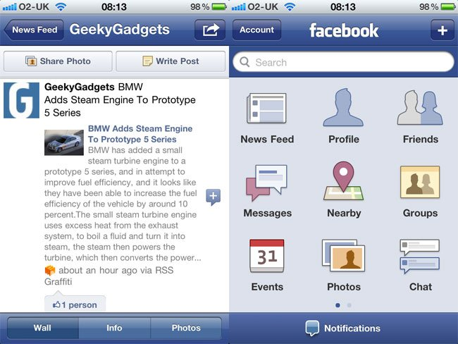 Facebook 3.5 iPhone